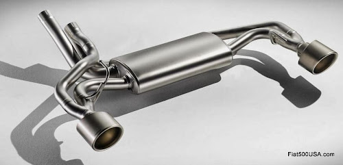 Abarth 695 biposto exhaust