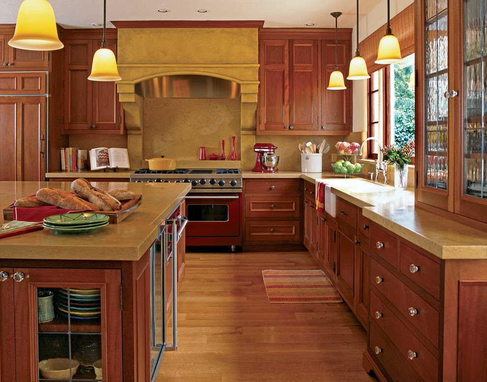 Appealing traditional home kitchens design home for Traditional kitchen cabinet ideas