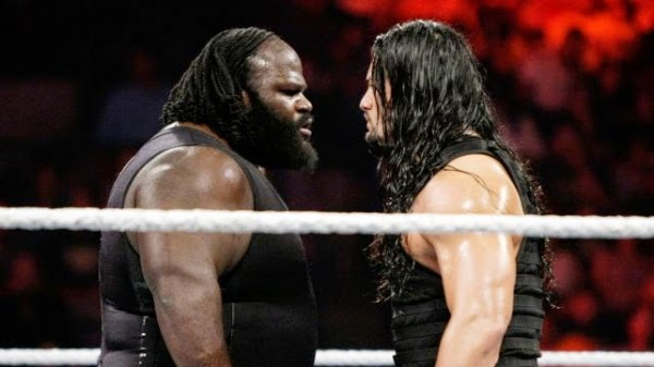 WWE Roman Reigns and Mark Henry wrestlers