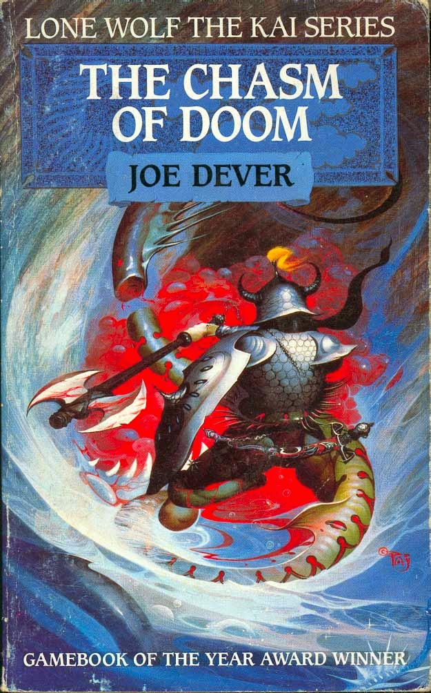 Lone Wolf 4 THE CHASM OF DOOM Joe Dever 1987 Beaver Reprint
