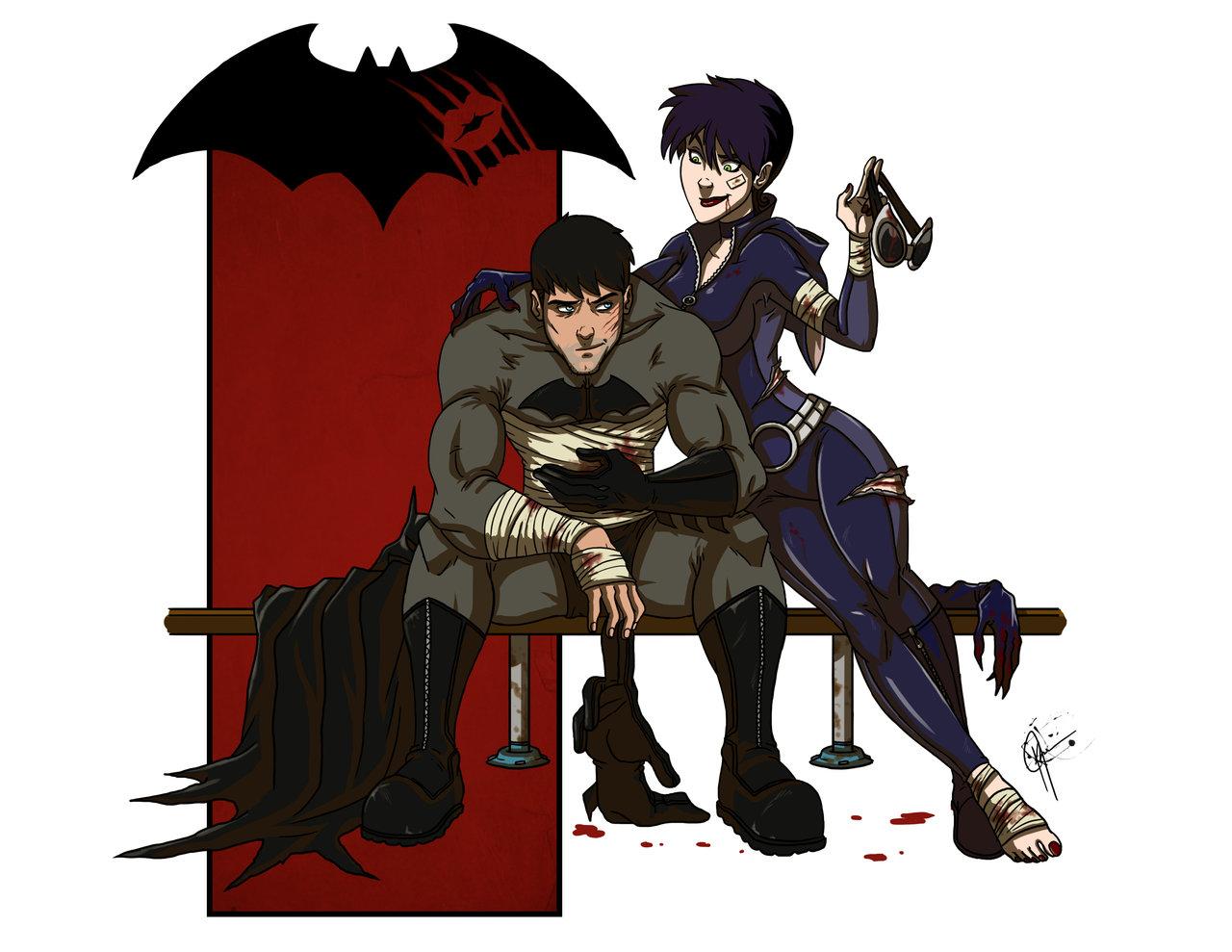 Art Batman Loves Catwoman And Joker Loves Harley Alien Bee