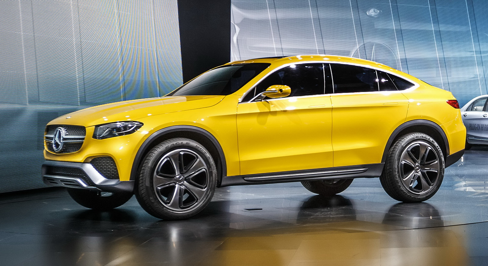 Mercedes thinly disguises production model with the glc for Mercedes benz suv coupe