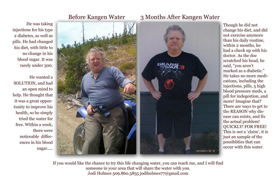 Kangen Water: Before and After Kangen Water for a diabetic ...