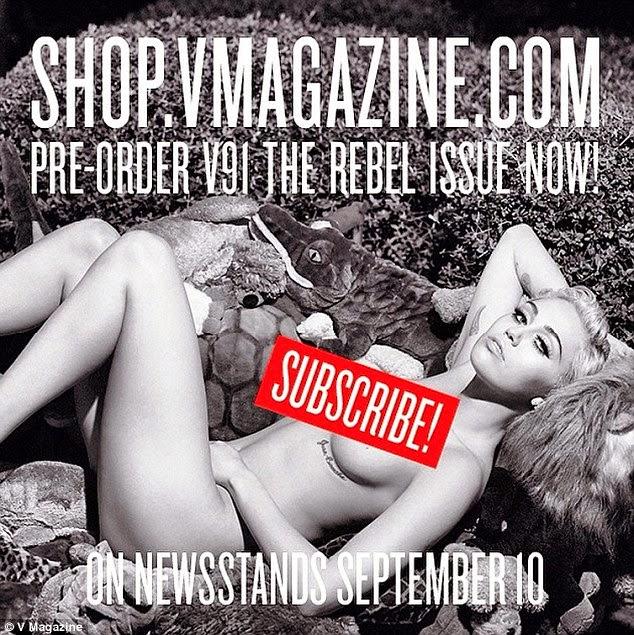 5 Gambar Miley Cyrus bergambar B0gel di majalah untuk di langgan
