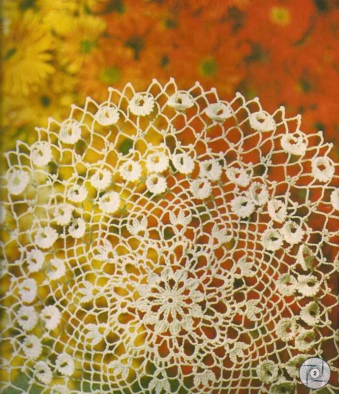 "Tapete ""Flor de Brezo"" a Crochet"