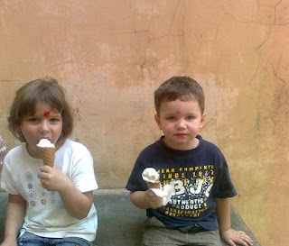 Cute kids with icecream