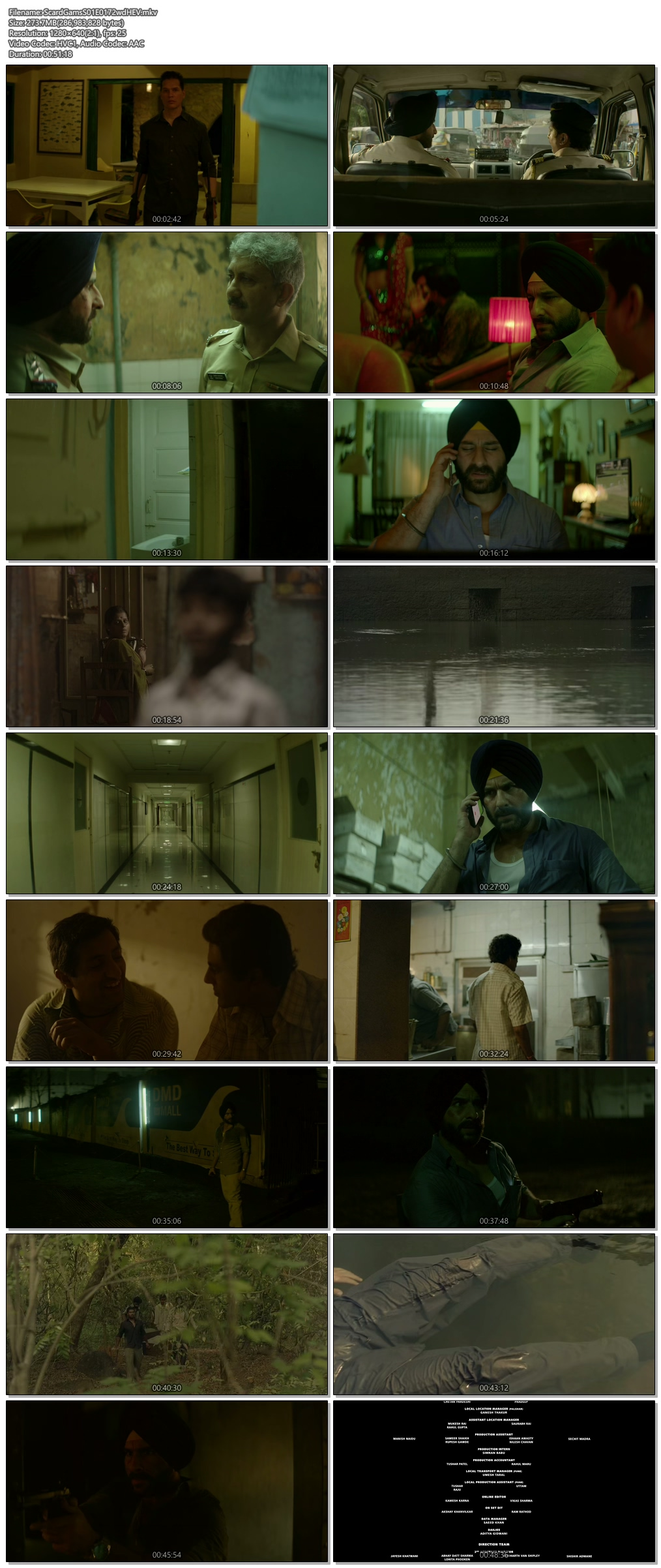 Screenshots Of Hindi Show Sacred Games Season 01 2018 Complete - All Episodes 300MB 720P HD
