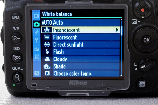 white balance on digital camera