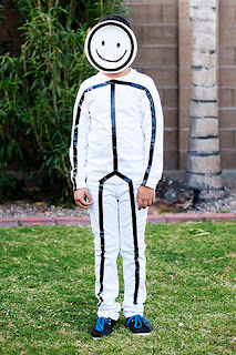 Stick figure costume made with Duct Tape