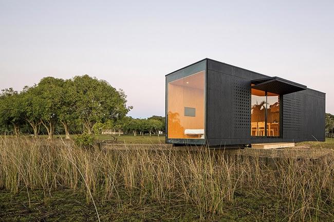 Cabana modular minimalista minimalistas 2015 for Casa rural minimalista
