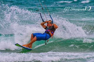 Kiter on Alimini Beach