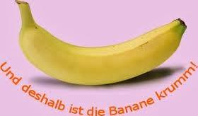 Le banane sono curve