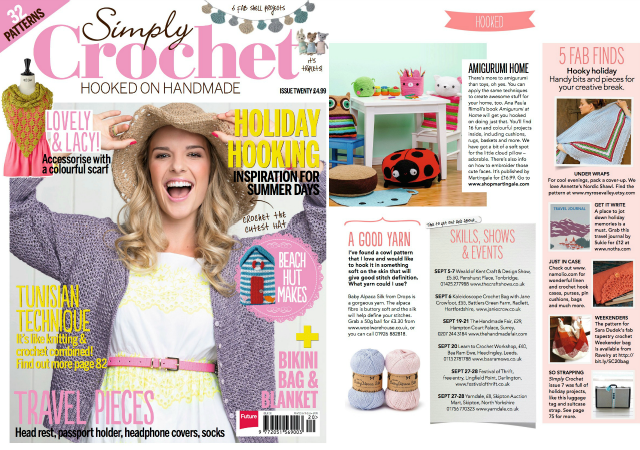 Creative Crochet Magazine : My Rose Valley: Featured in Simply Crochet #20 - lets celebrate!