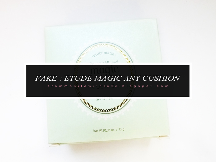 fake etude house cushion makeup