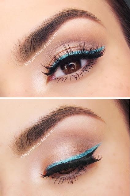 Turquoise Liner Looks Amazing