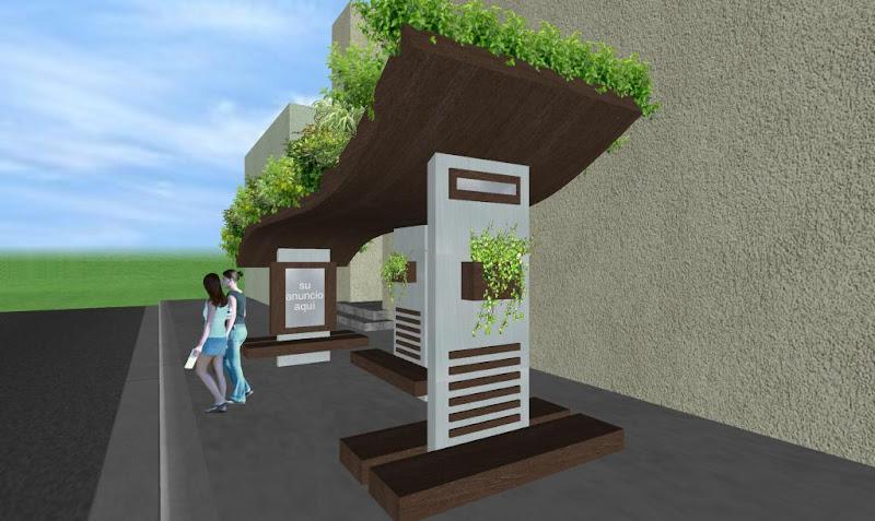 Parabus Ecologico - Ondine 3 - Con Jardin en la Azotea y Macetas con Plantas Colgantes - Zen Ambient - Mexico