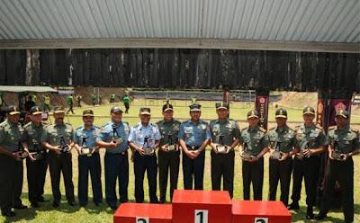 Tim TNI AD Juara Lomba Tembak Panglima TNI Cup 2012