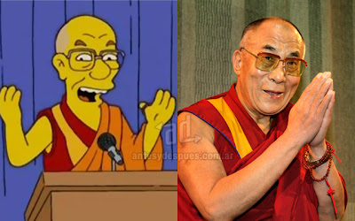 Dalai Lama simpsons artis+kartun Tokoh tokoh selebriti dalam serial kartun The Simpson