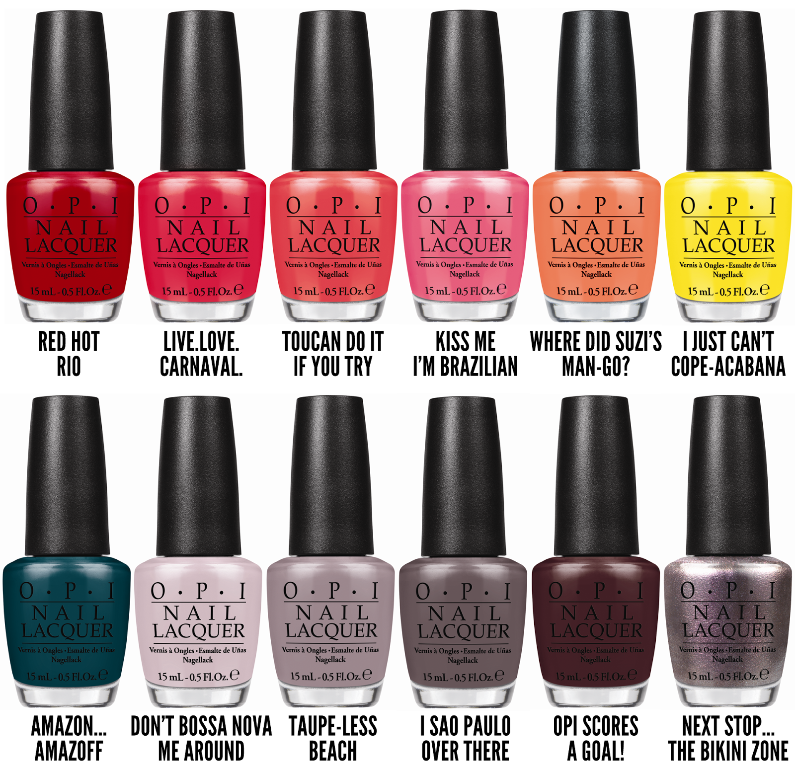 Chalkboard Nails News: OPI Brazil Collection for Spring ...