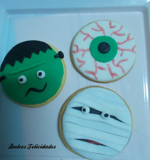 Galletas momia halloween fondant