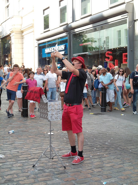 Street entertainer in Covent Garden London