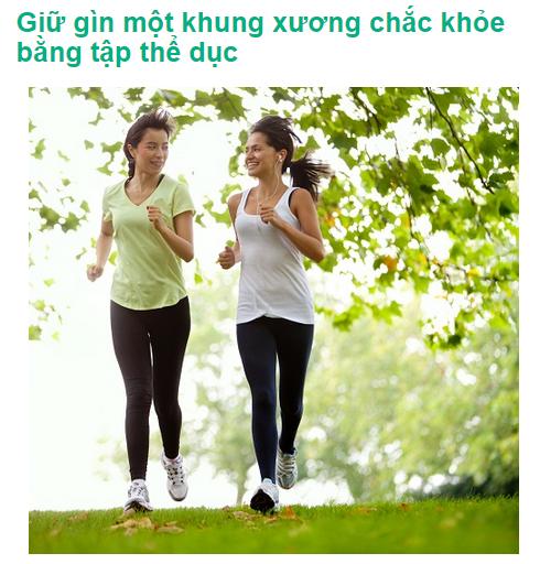Tập thể dục để có được một khung xương chắc khỏe