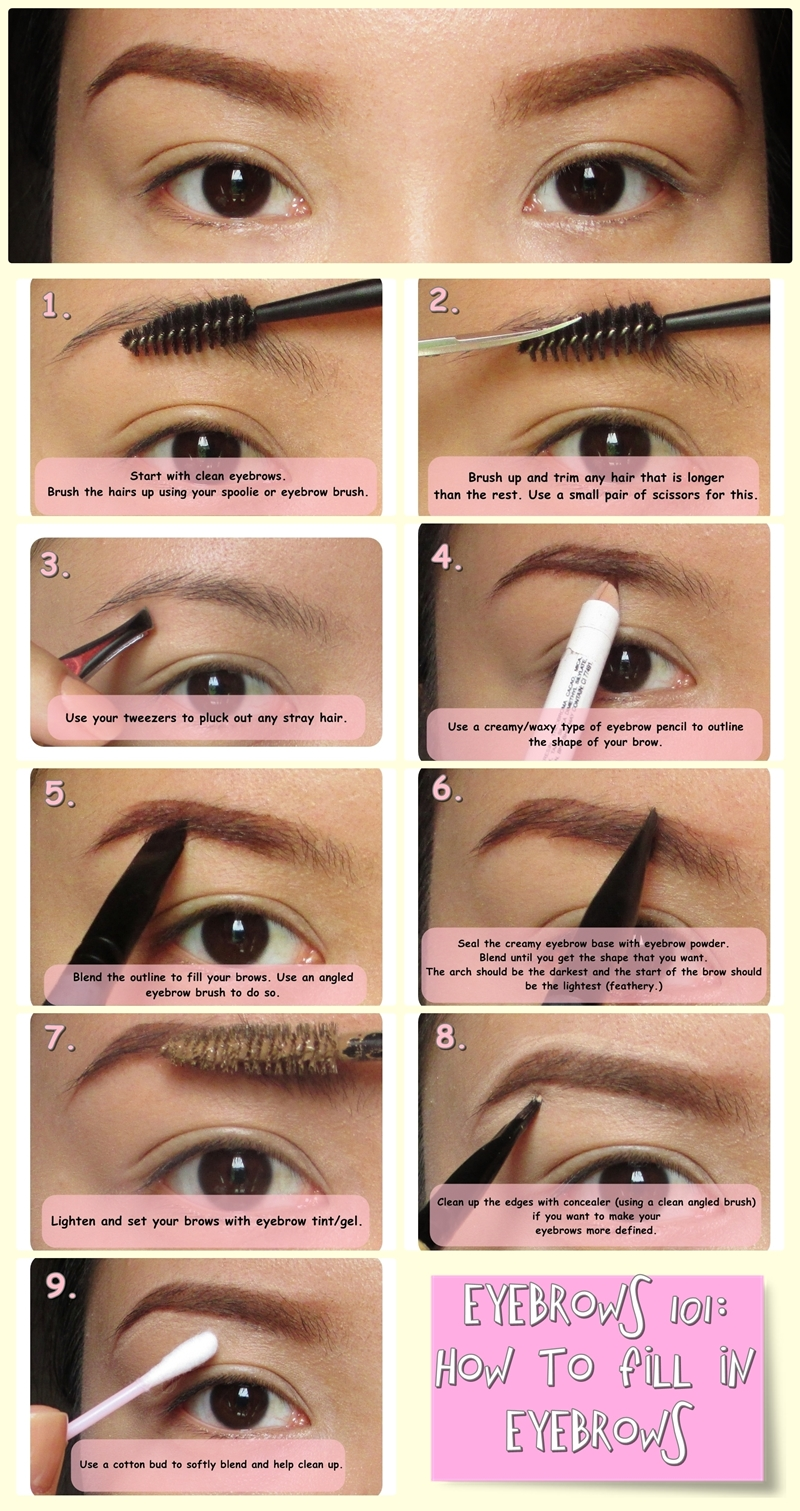 Make Me Up Before You Go Go Eyebrows 101 Filling In Your Brows