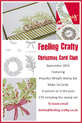 September Christmas Card Club featuring the Peaceful Wreath Stamp Set - Book Here