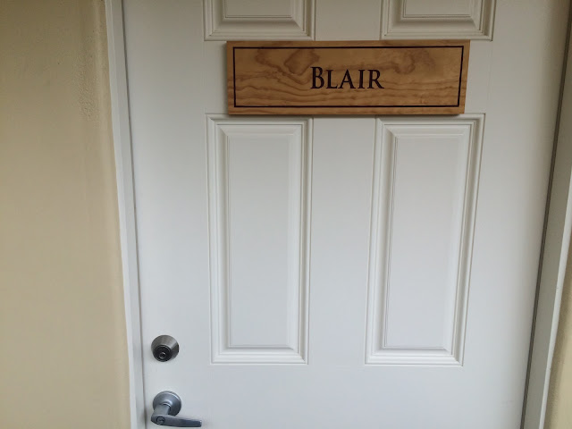 Blair room door