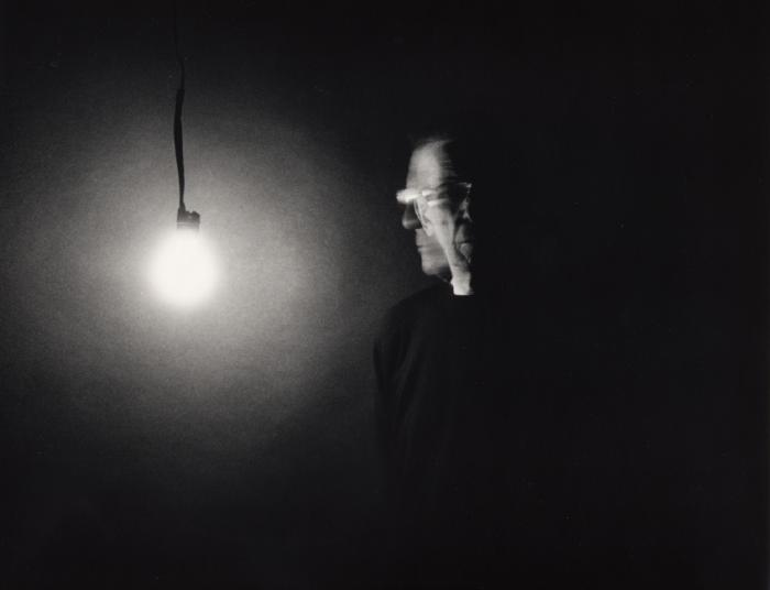 Double Self Portrait with Light Bulb by Leonard Nimoy.
