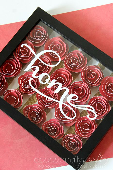 This 3D Rolled Flower Shadowbox makes a perfect housewarming gift, wedding gift, or just a statement piece to add to your home decor!