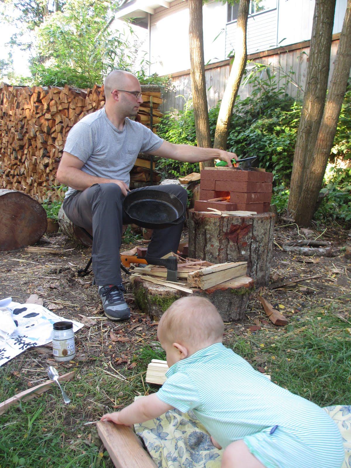 tree peeps rocket stove
