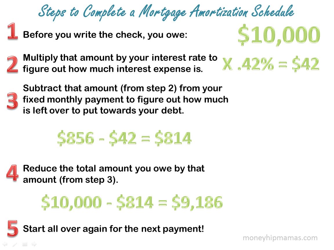 money hip mamas de mystifying the mortgage amortization schedule