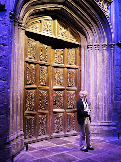 The front doors of Hogwarts at WB Harry Potter Studio Tour in London