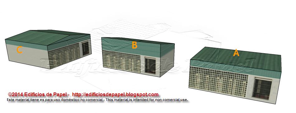 New design for the Logistic Warehouse paper model