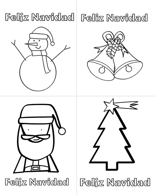 Dibujos para colorear dibujos de navidad para imprimir for Figuras navidenas para decorar