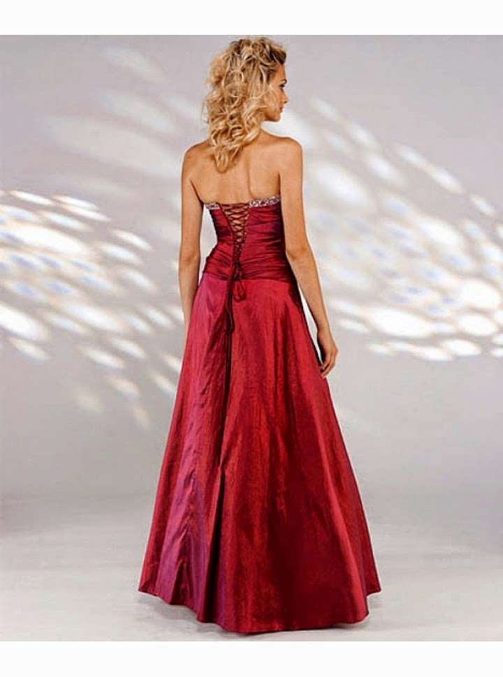 Vestido de Fiesta Largo, Strapless, Escote Recto con Apliques Plateados