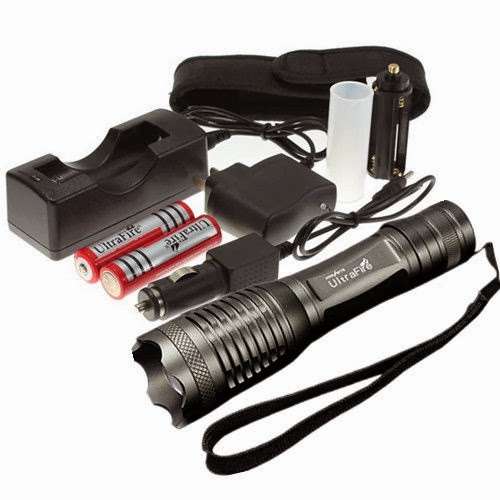 UltraFire 1800LM CREE XML T6 LED Flashlight Torch Zoomable Zoom 2x18650 SET