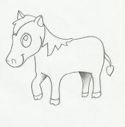 Desenho de pônei para pintar. Desenho infantil de cavalo da raça pônei para .