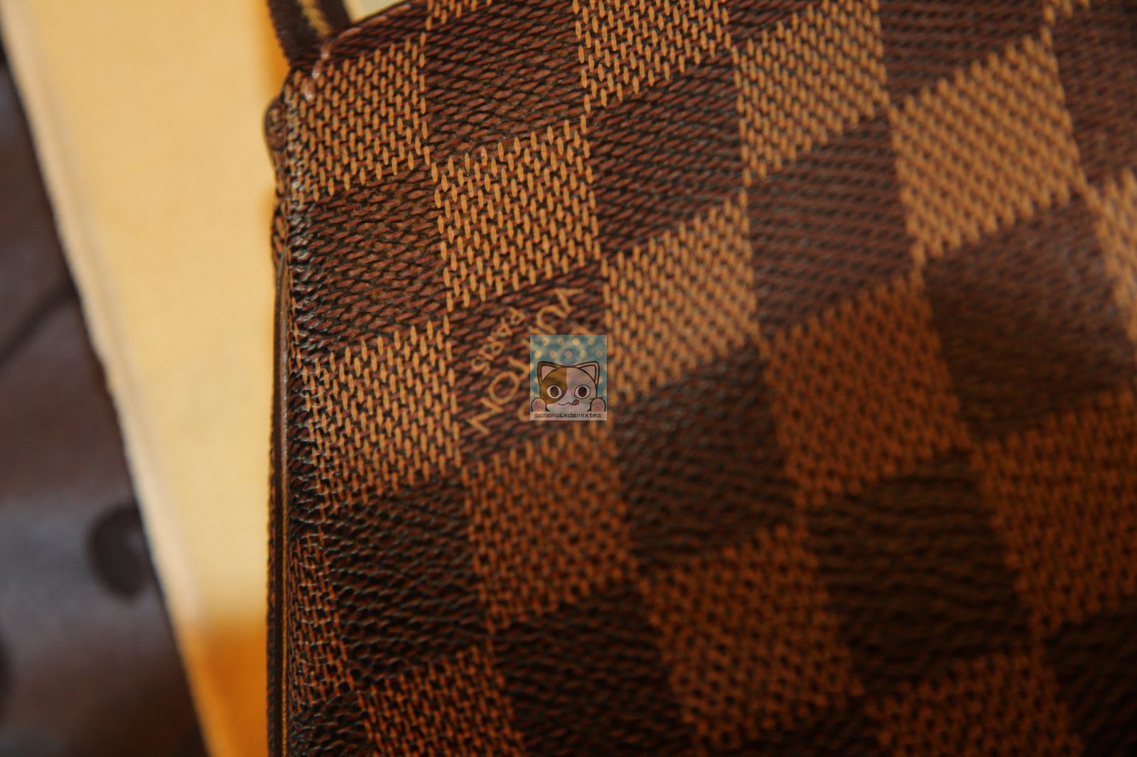 schokoladenkatze my 1st lv louis vuitton eva pochette in damier ebene. Black Bedroom Furniture Sets. Home Design Ideas