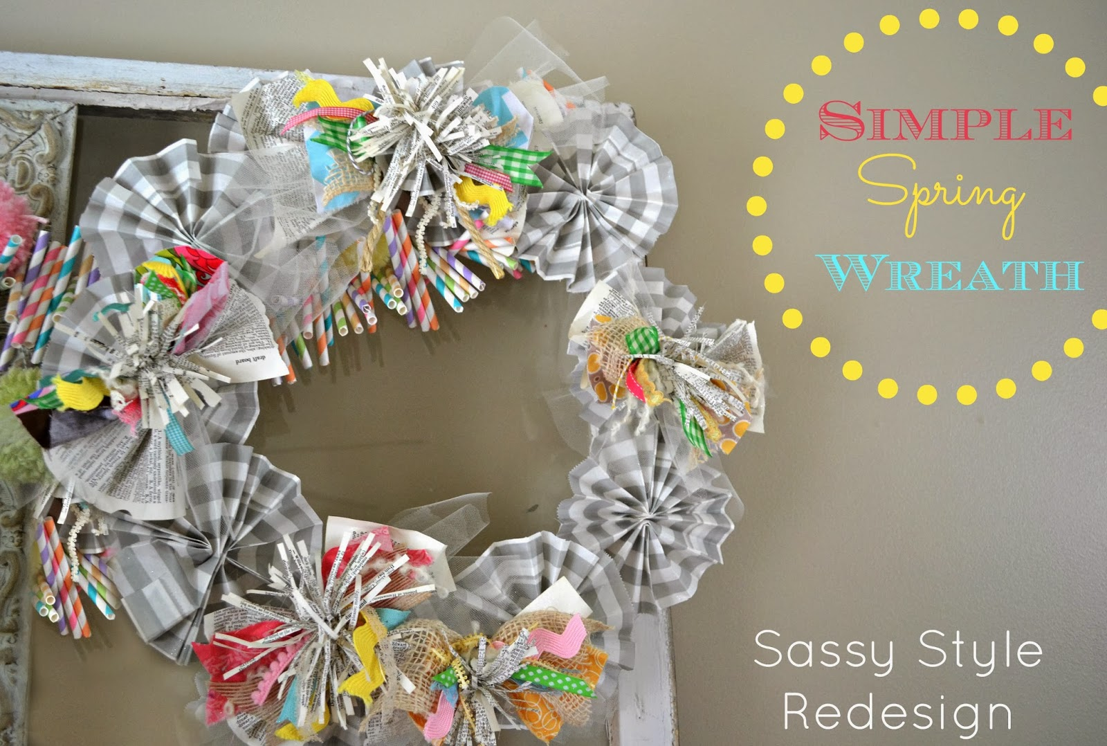 ... for more spring creations that you can make simple spring wreath