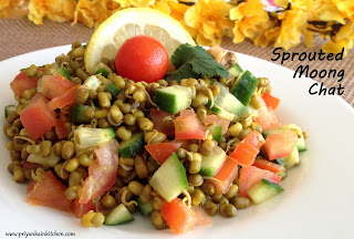 Sprouts Moong Mung Green gram Chat Chaat