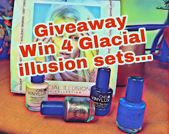 Win 4 awesome Vinylux Glacial Illusion sets!