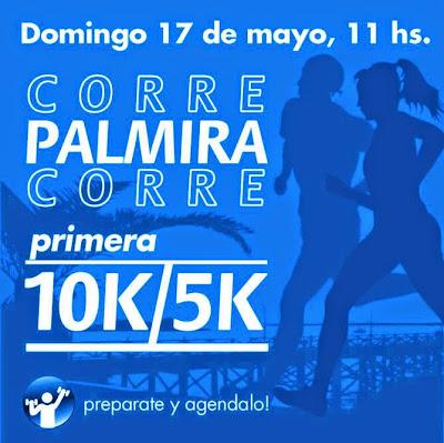 10k y 5k Corre Palmira Corre (Nueva Palmira, Colonia, 17/may/2015)