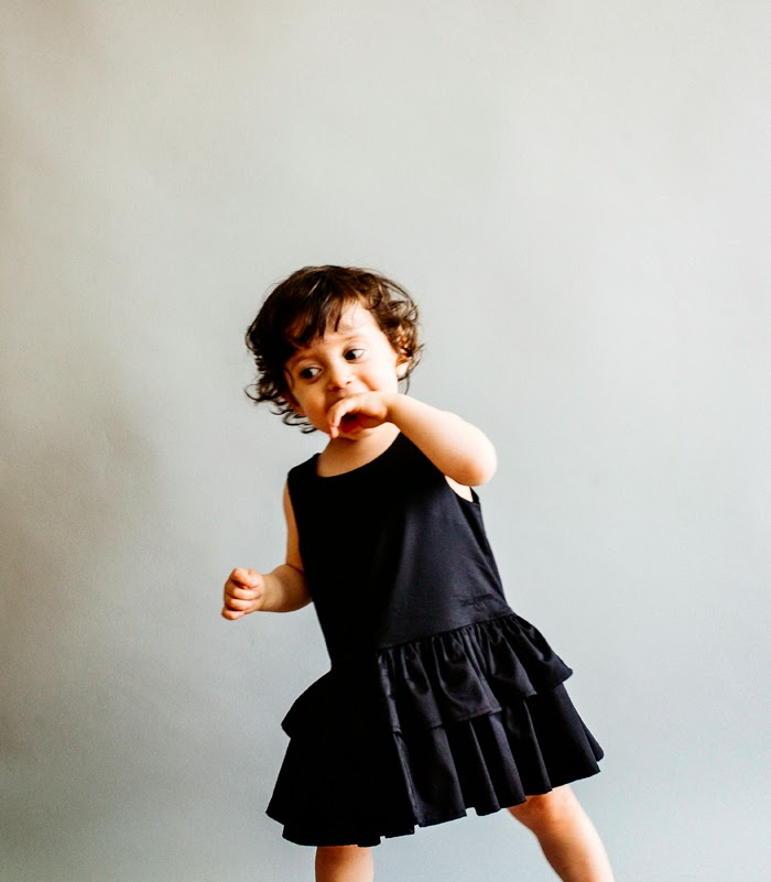 Wolf & Rita Spring-Summer 2015 kids fashion - black dress