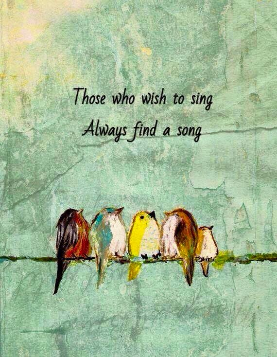 Those who wish to sing...