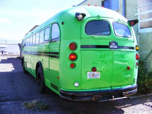 1970 crown single axle bus