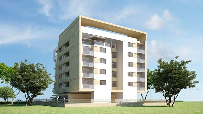 3D Front Elevation.com: Plaza & Tower 3D Front Elevation Design