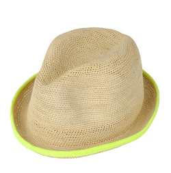 neon yellow trim beach hat