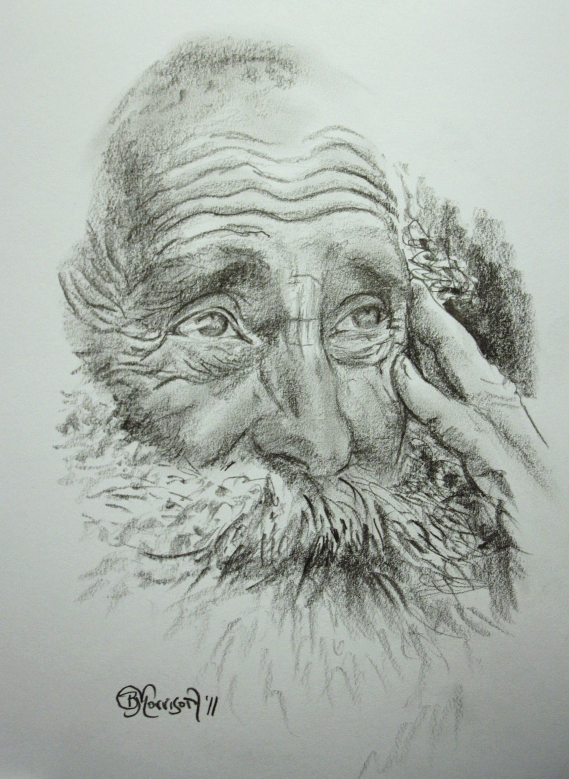 old mans face drawing - photo #7